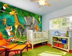 Dormitorios de bebé tema la selva
