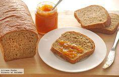 Receta de pan de molde integral sencillo. Con fotografías del paso a paso, consejos y sugerencias de degustación. Recetas de panes. Desayunos y m...