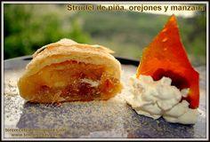 Strudel de piña, orejones de albaricoque y manzana.    http://tererecetas.blogspot.com.es/2013/05/strudel-de-pina-orejones-y-manzana.html