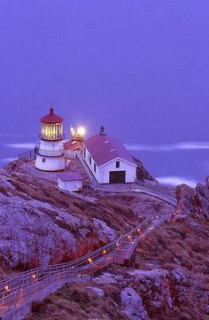 Point Reyes Lighthouse ~ after sunset, California