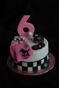 "1950's 6"" birthday cake"