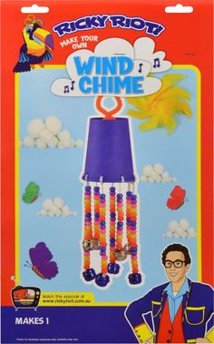 Make your own Wind Chime with Ricky Riot & Arty Toucan! $4.99