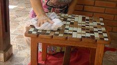Renovando mesa com ladrilhos