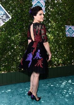 Lana Parrilla attends the Teen Choice Awards in Inglewood, California on July 31st, 2016