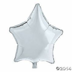 Silver Star-Shaped Mylar Balloons.