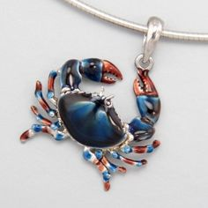 blue crab pendant for a Cancer