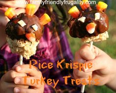 Rice Krispie Turkey Treats: Gobble Gobble