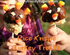 Rice Krispie Turkey Treats: Gobble Gobble