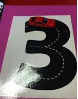 Adorable mats for tracing numbers with cars! What a fun way to practice!