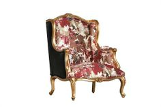 Fat Boy Arm Chair Excl Fabric And Chord - Gold Finish Measurements 760 x 760 x 1000 Chaise Chair, Wingback Chair, Armchair, Lounge Furniture, Lounge Chairs, Accent Chairs, Couch, Interior, Fabric
