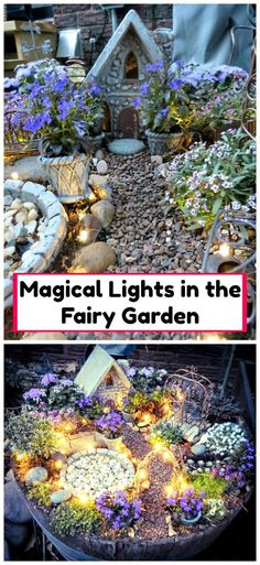The fairy houses look really adorable and the give us the true feelings of love. Especially when we give them a lighting effect they look more charming, magical and romantic. So, in this magical lights in the fairy garden is full of many little details. And the swing in this fairy garden is giving a very impressive and cute effect. Its all is a really fun for the kids.