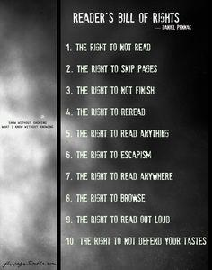 The Reader's Bill of Rights