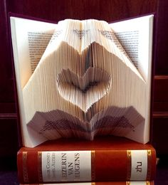 Heart inside two hands - Valentine's day - Folded book art - Boyfriend gift - girlfriend - anniversary - wedding gift - handmade gift