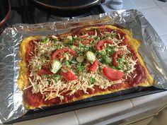 spaghetti squash crusted pizza