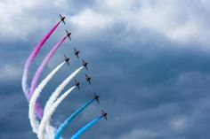 Red Arrows against at a moody background at RIAT Raf Red Arrows, Arrow Print, Aircraft Photos, I Cool, Marketing And Advertising, Lightroom, Framed Prints, Aviation, Art Photography