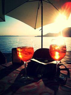 Aperol spritz ... The best aperitivo in Italy ...yum yum
