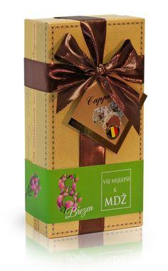 MDŽ - Lanýže mléčné Cappuccino s hoblinkami z bílé čokolády (žlutý obal s mašlí) 250g Origami, Gift Wrapping, Gifts, Gift Wrapping Paper, Presents, Wrapping Gifts, Origami Paper, Favors, Gift Packaging