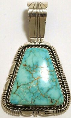 American Navajo Blue Valley turquoise pendant.