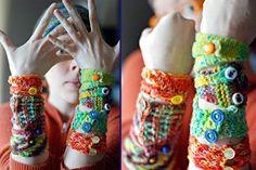 Ravelry: Ten 10 yard Cuffs pattern by Lee Meredith Love Crochet, Learn To Crochet, Knit Crochet, Knitting Patterns, Crochet Patterns, Crochet Bracelet, Crafty Craft, Crafting, Crochet Accessories