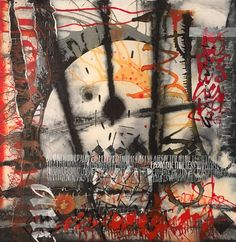 War of the Worlds Abstract calligraphy Textual Art. Lots of Acrylic ink plus lots of water and overwritten with white gouache #textualart #abstractcalligraphy