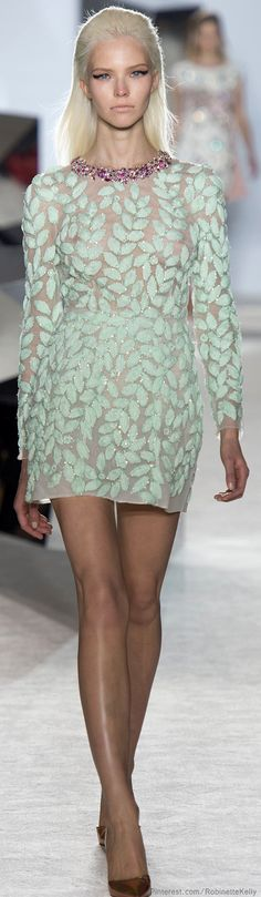 Sexy Cocktail dress..Giambattista Valli Haute Couture | S/S 2014 ice mint cocktail dress