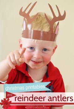 Free printable reindeer antlers!