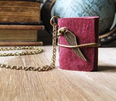 Book necklace/book jewelry/miniature book/follow your by akinto