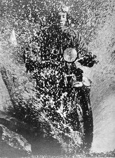 Martin Munkacsi: Motorcyclist, Budapest, 1923    Terrific action shot for the…