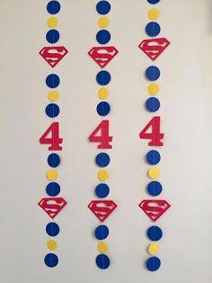 Superman Birthday Party, Superhero Birthday Invitations, Batman Party, Superhero Party, 5th Birthday, Birthday Parties, Bolo Do Superman, Superman Baby, Blue Party Decorations