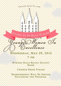 Young Women In Excellence Invitation
