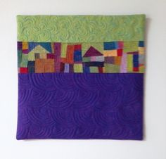 """Mountain Retreat"" 2013 Cindy Grisdela.  Her SAQA Auction Quilt.  Link to all of the auction quilts on her blog."