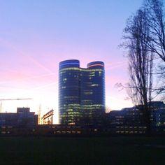 verrekijker & zonsondergang