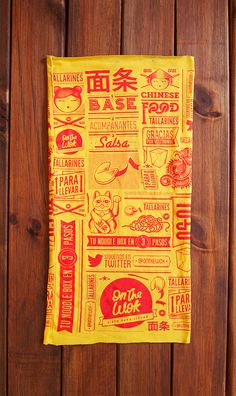 On the Wok is an Asian fast food concept restaurant in Caracas, Venezuela focused on noodles to take away. Food Graphic Design, Japanese Graphic Design, Menu Design, Food Design, Graphic Design Inspiration, Cool Packaging, Food Packaging Design, Brand Packaging, Food Branding