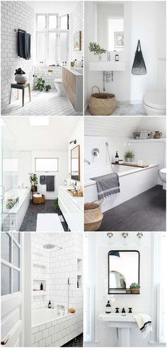 Today I've rounded up some of my favorite minimalist bathroom inspiration. These bathrroms are filled with beautiful modern elements.