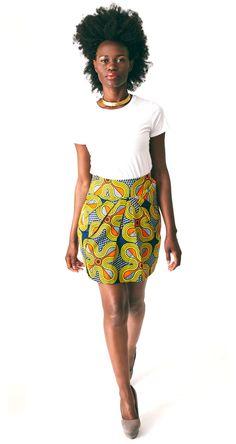 The Nina  African Print 100 Cotton Tulip by HouseOfTatusi on Etsy, $85.00