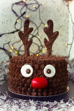 Rentårta ⭐sockerlinn.se⭐ Goodness Sake, Helly Hansen, Xmas, Christmas, Chocolate Cake, Tart, Mango, Birthday Cakes, Desserts