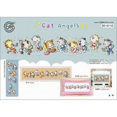 Sodastitch grille Cat Angels G118 - Univers Broderie