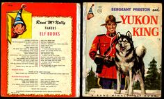 vintage Sergeant Preston and Yukon King Book Western Comics, King Book, Preston, Westerns, Police, Comic Books, Canada, Baseball Cards, Movie Posters