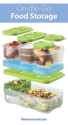 Great for school or on the job, pack your lunch in these multiuse containers. #organization #bpafree #recipes