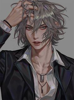 Best Ideas For Design Character Animation Hot Anime Boy, Cute Anime Guys, Anime Boys, Anime Boy Hair, Dark Anime Guys, K Project Manga, Character Inspiration, Character Art, Anime Boy Zeichnung