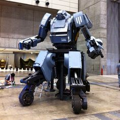 Suidobashi Heavy Industries, a company which sounds straight out of Metal Gear Solid, has revealed the Kuratas: A giant robot that weighs over four tons, measures in at a height of 13 feet, and includes BB Gatling guns that fire 6,000 rounds a minute. The trigger mechanism for those beasts? The pilot's smile. It'll only set you back about $1,350,000.