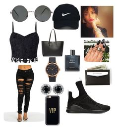 """Dust After Dawn"" by vibe-goddess ❤ liked on Polyvore featuring Nike Golf, Yves Saint Laurent, Marc Jacobs, Chanel, Lipsy, Puma and Casetify"