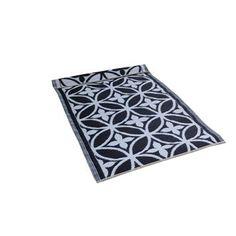 Plastic vloerkleed met grafische bloem Priya