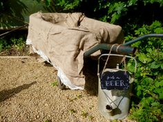 21st Birthday Party | grab a beer | drinks stands | rustic rural | summer garden party