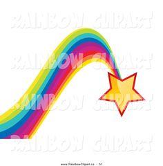 Royalty Free Star Stock Rainbow Designs