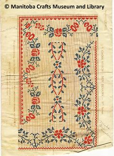 - Eastern European, possibly Ukrainian, embroidery patterns. Hand-drawn and coloured on cream graph paper, with published magazine or book clippings as references. Craft Museum, Graph Paper, Embroidery Patterns, Hand Drawn, Bohemian Rug, How To Draw Hands, Crafting, Magazine, Cream