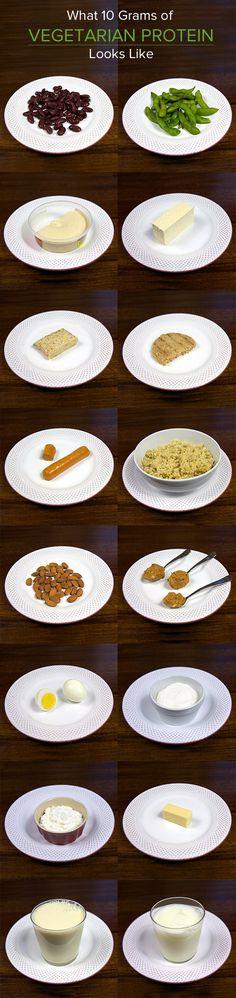 What 10 Grams of Vegetarian Protein Looks Like