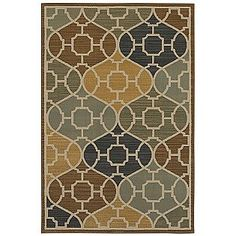 Kelsey Blue, Yellow Woven Rug Collection- Country Living