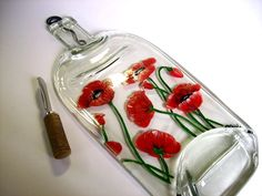 fused glass art | Poppies. | Fused Glass Art