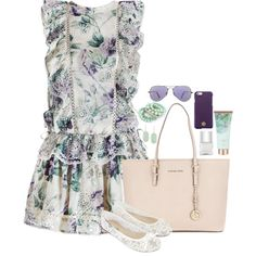 A fashion look from August 2015 featuring Zimmermann dresses, Accessorize flats and Michael Kors shoulder bags. Browse and shop related looks.